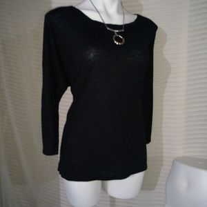 CATO long sleeve black top